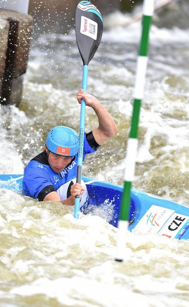 Kajakář Jiří Prskavec skončil druhý v domácím závodě Světového poháru ve vodním slalomu.