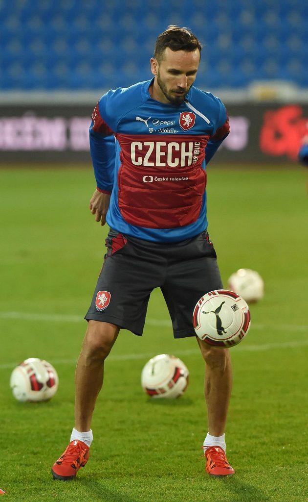 Obránce Tomáš Sivok v přípravě na přátelský duel se Srby.