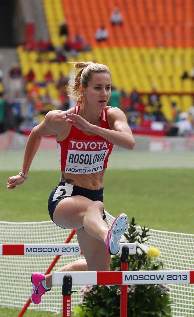 Denisa Rosolová při mistrovství světa v Moskvě.