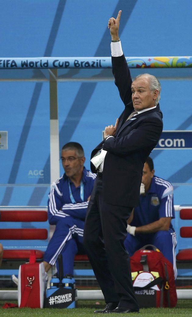 Argentinský kouč Alejandro Sabella v semifinále s Nizozemci.