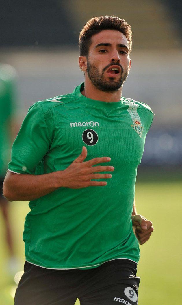 Manuel Jesús Vázquez Florido z Betisu Sevilla na tréninku v Jablonci nad Nisou.