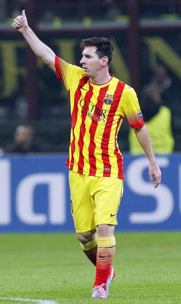 Lionel Messi se proti AC Milán prosadil i střelecky.