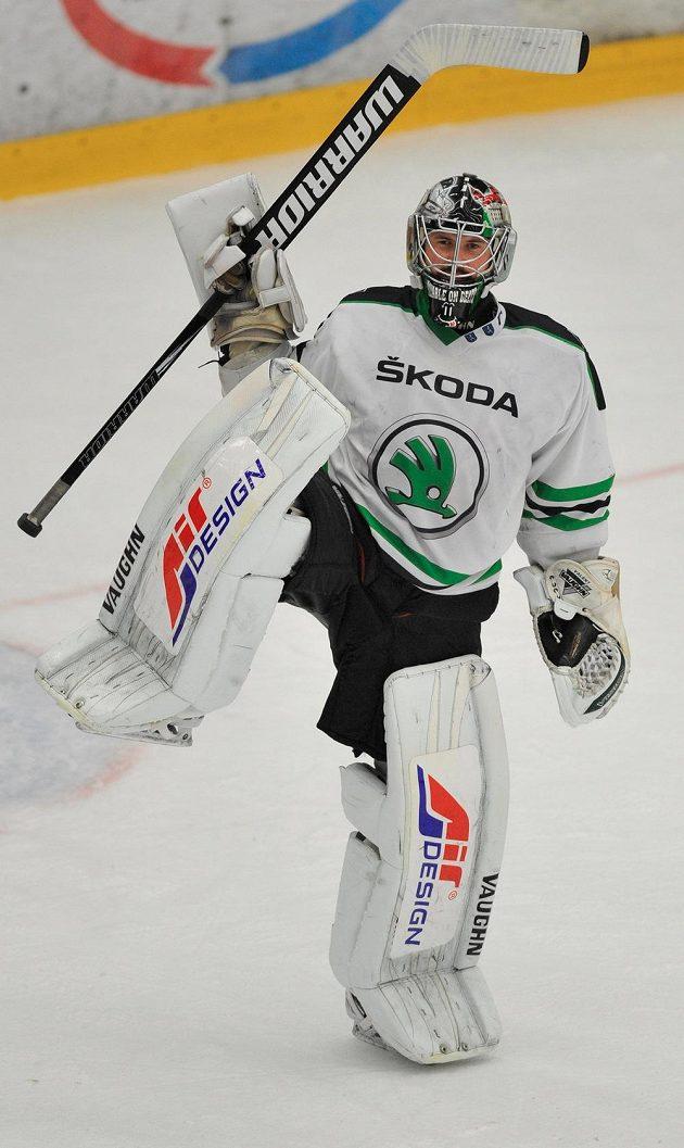Mladoboleslavský brankář Michal Valent se raduje z výhry nad Olomoucí.