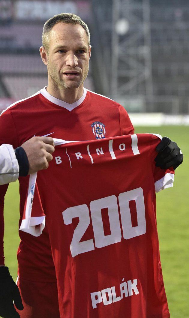 Jan Polák z Brna odehrál 200. prvoligový zápas.
