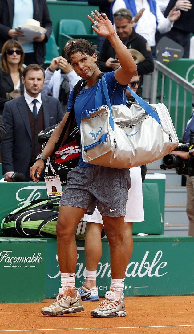 Rafael Nadal se letos loučil v Monte Carlu nezvykle brzy. Osminásobný vítěz turnaje vypadl ve čtvrtfinále.