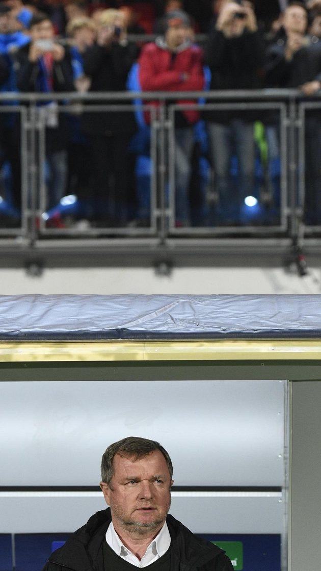Trenér Plzně Pavel Vrba při utkání s Realem.