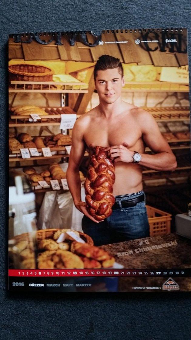 Aron Chmielewski jako pekař.