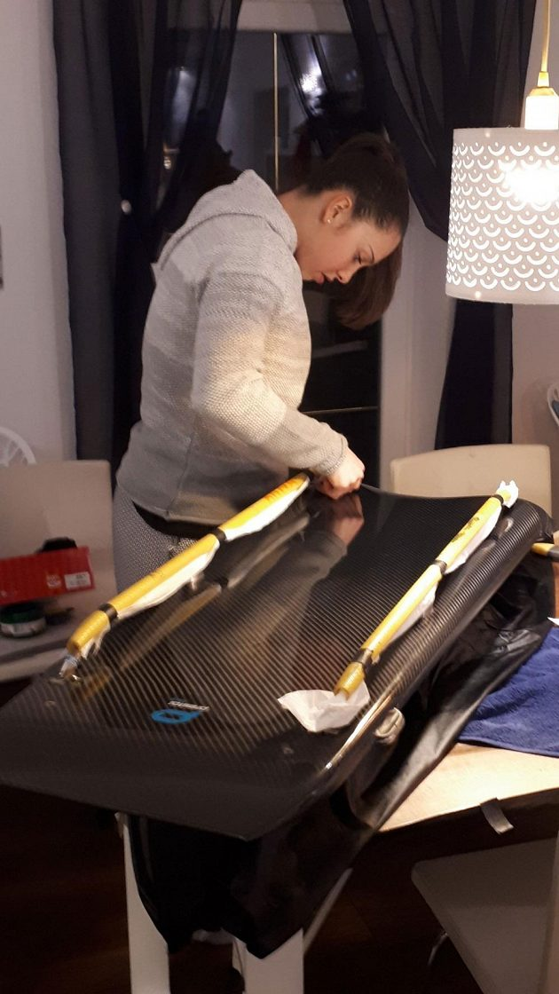 Anna Fernstädtová pečuje o svůj skeletonový speciál.