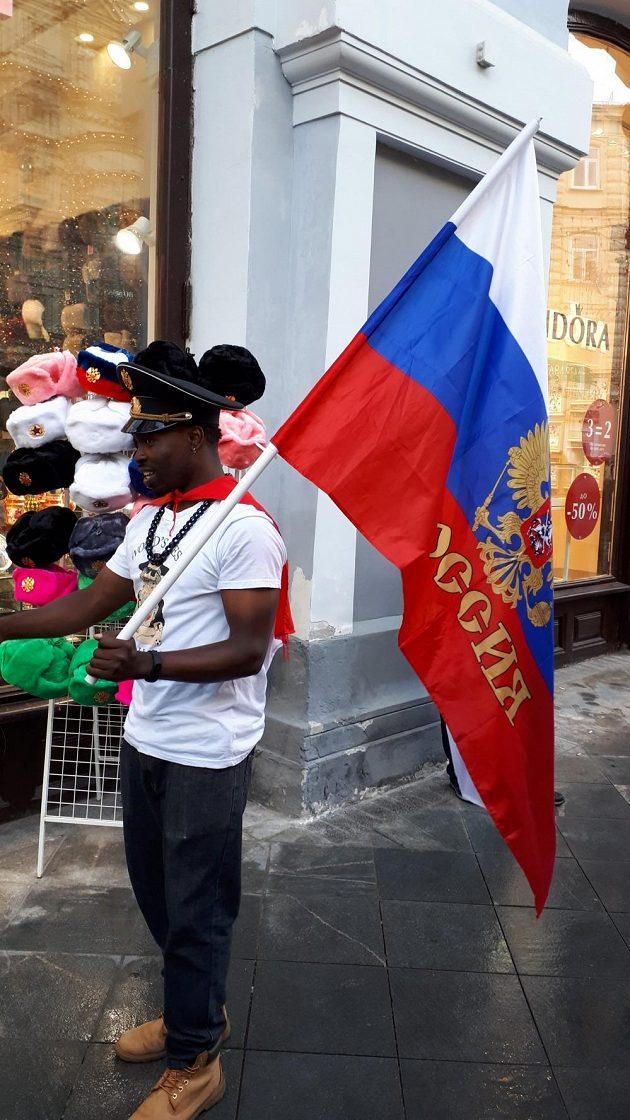 Ruský fanoušek před startem fotbalového mistrovství světa.