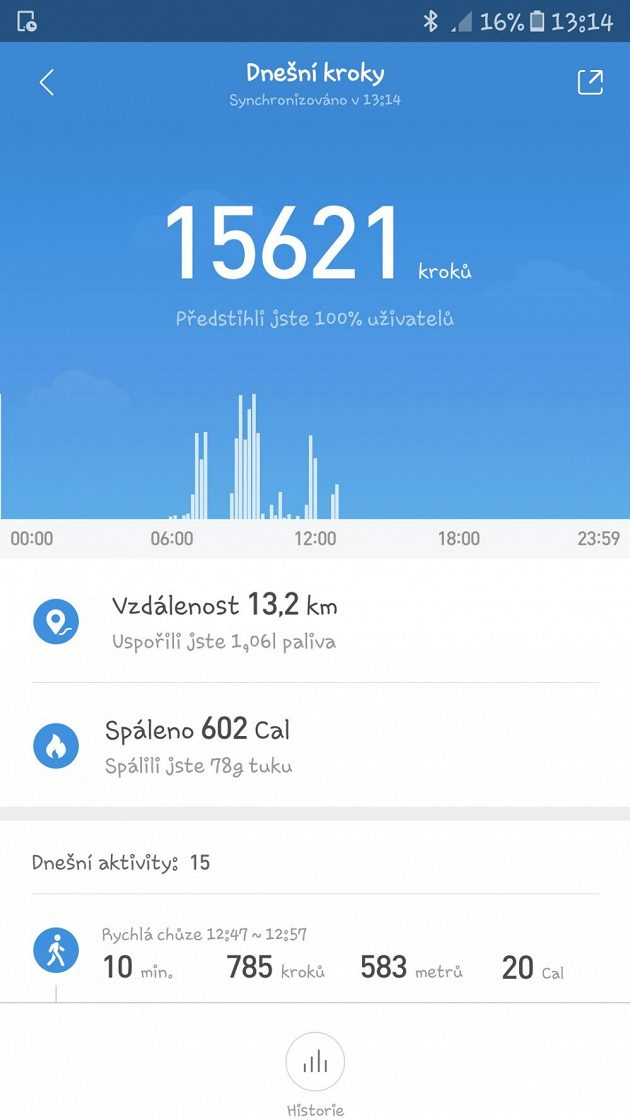 Xiaomi Huami Amazfit Bip - automaticky sleduje i denní aktivitu.