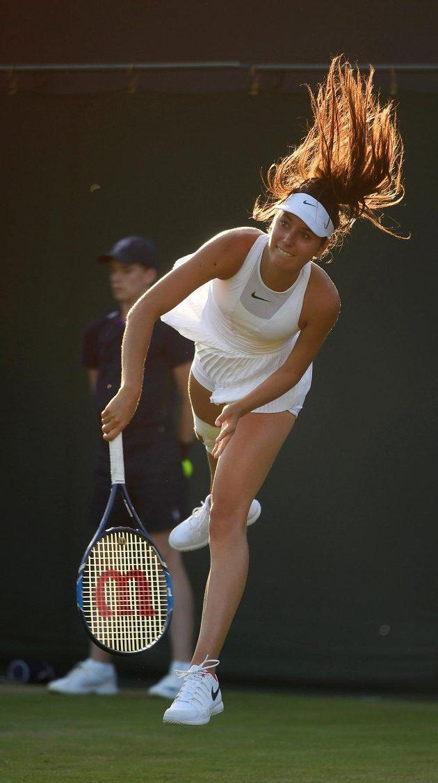 Francouzská tenistka Oceane Dodinová, soupeřka Lucie Šafářové.
