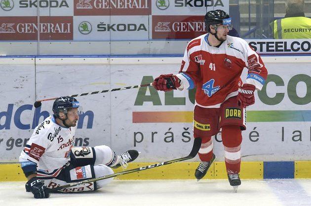Zleva Blaž Gregorc z Vítkovic a Petr Strapáč z Olomouce.