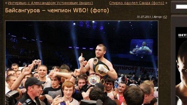 Zaurbek Bajsangurov slaví vítězství