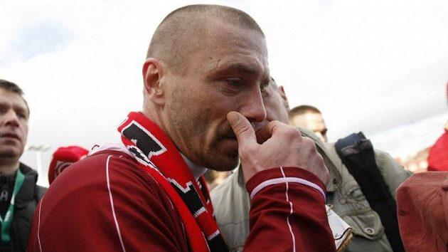 Slzy dojetí sparťana Tomáše Řepky po silvestrovském derby se Slavií.