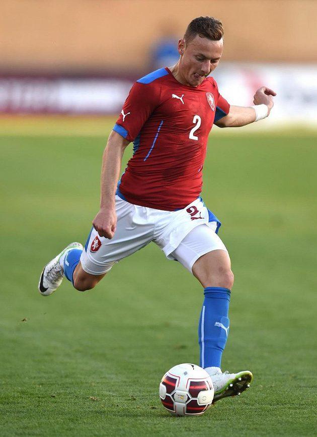 Obránce Vladimír Coufal během přátelského utkání s Itálií.