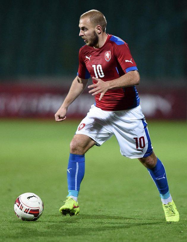 Jiří Skalák během přátelského utkání s Itálií.