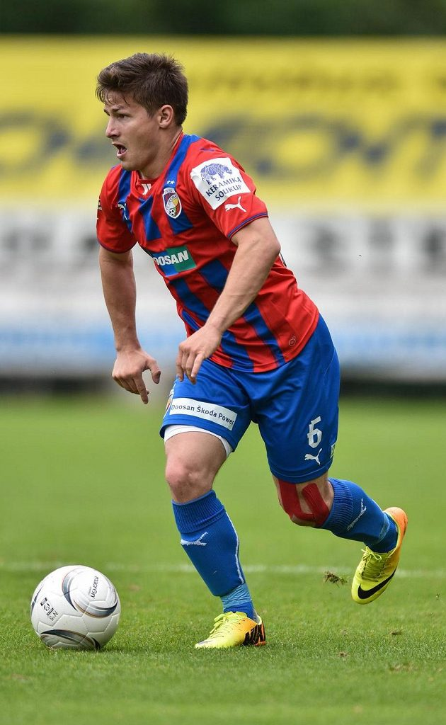 Plzeňský navrátilec Václav Pilař během přípravného utkání s Karabachem Agdam.