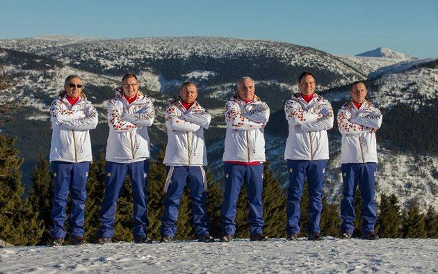 Tým z hor - zleva Petr Vichnar, Petr Kubásek, Jiří Hölzel, Pavel Čapek, Jan Holický a Roman Dostál.