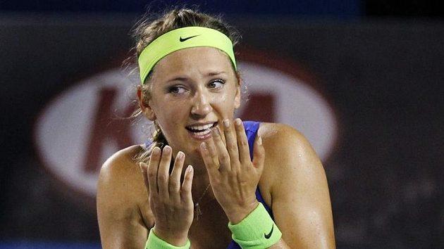 Běloruska Viktoria Azarenková právě proměnila mečbol ve finále Australian Open.
