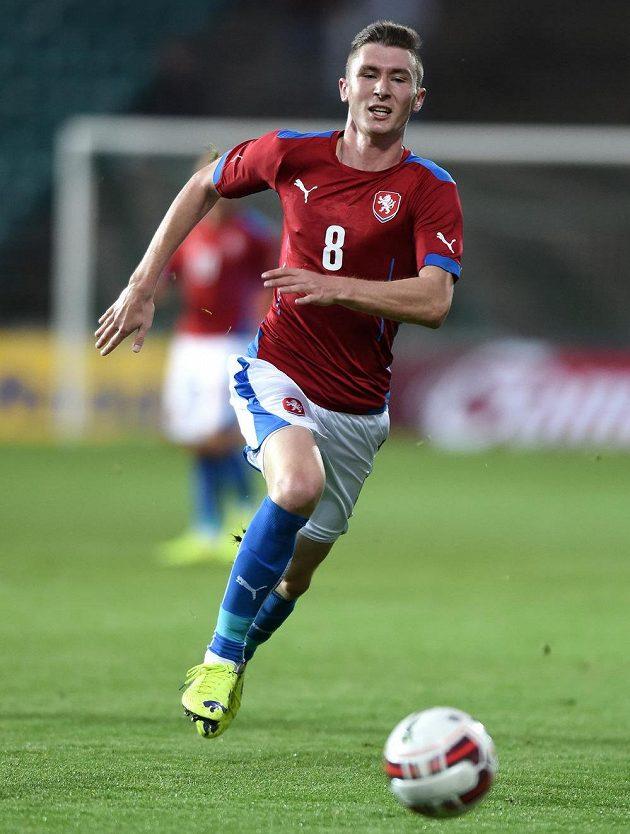 Jaromír Zmrhal během přátelského utkání s Itálií.
