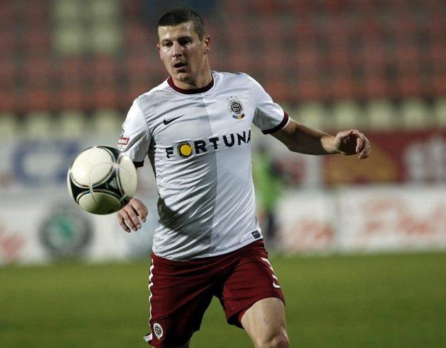 Sparťan Manuel Pamič během utkání v Příbrami.