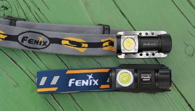 Svítilna Fenix HM50R společně se svou předchůdkyní HL50.