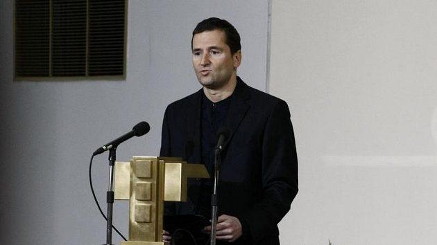 Robert Záruba na pohřbu Lukáše Přibyla.