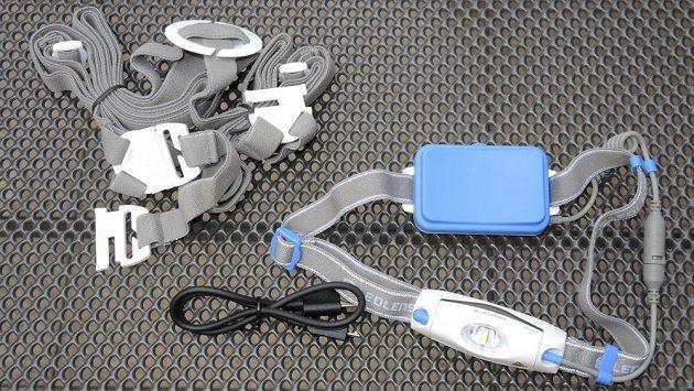 Běžecká svítilna Ledlenser NEO 6R ‒ kompletní rozsah dodávky.