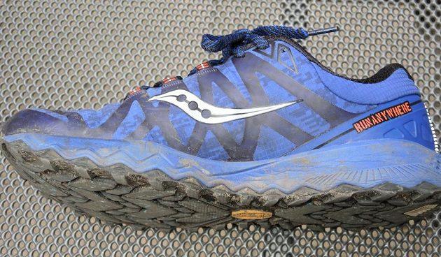 Běžecké boty Saucony Peregrine 7 Arctic - pohled z vnitřní strany.