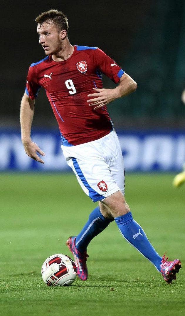 Michael Krmenčík během přátelského utkání s Itálií.
