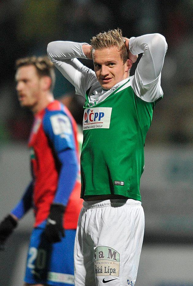Jan Kopic z Jablonce po zmařené šanci.