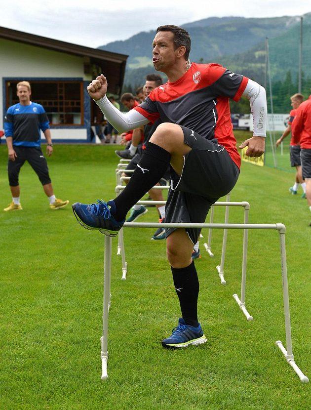 Pavel Horváth maká během tréninku v rakouském Westendorfu.