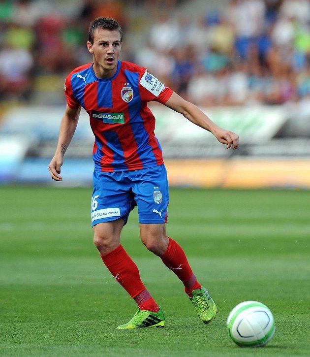 Plzeňský záložník Vladimír Darida během utkání s Baníkem Ostrava.