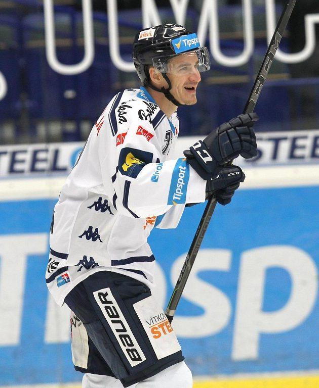 Patrik Zdráhal se raduje ze čtvrtého gólu Vítkovic.