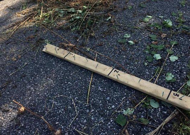 Nalezená lať skutečně připomínala nějaký zbytek ze stavby.