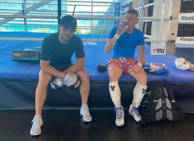 Jan Maršálek (vlevo) a David Dvořák při tréninku.