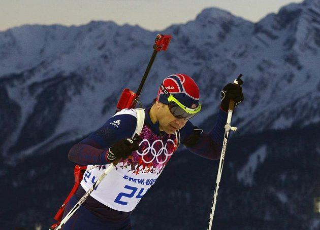 Legendární norský biatlonista Ole Einar Björndalen znovu vyhrál...