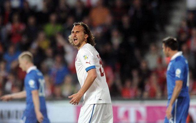 Petr Jiráček byl blízko vedoucímu gólu, ale chvíli před koncem zápasu orazítkoval jen tyč italské branky.