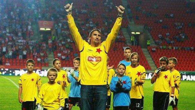 Brankář Slavie Martin Vaniak se loučí s kariérou.