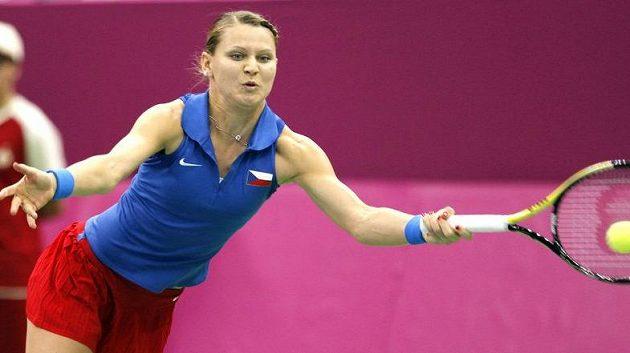 Lucie Šafářová při Fed Cupu v Moskvě.