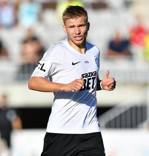 Martin Frýdek, jediný český hráč v základní sestavě Sparty v Jablonci...