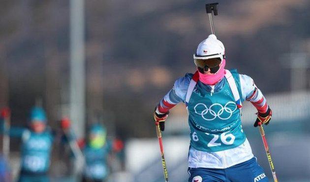 Česká biatlonistka Veronika Zvařičová na tréninku v dějišti olympijských her.