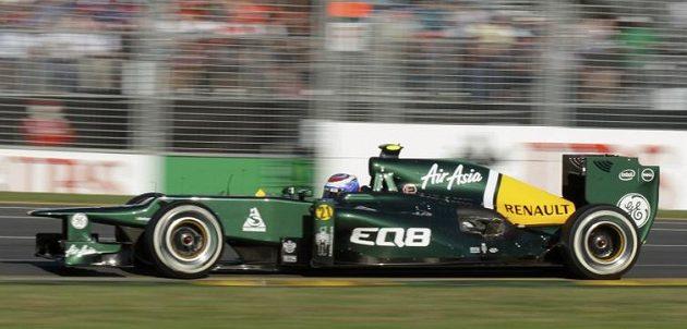 Vitalij Petrov, pilot stáje Caterham během GP Austrálie.