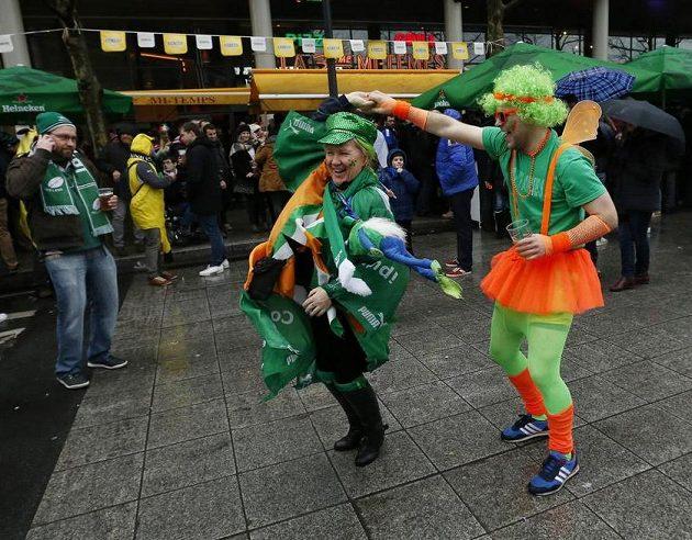 Irské tance před Stade de France.