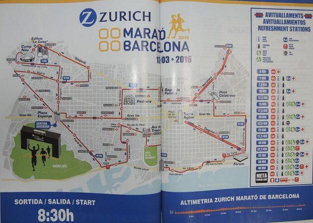 Mapa závodu s profilem trati.