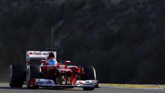 Fernando Alonso při testování v Jerezu
