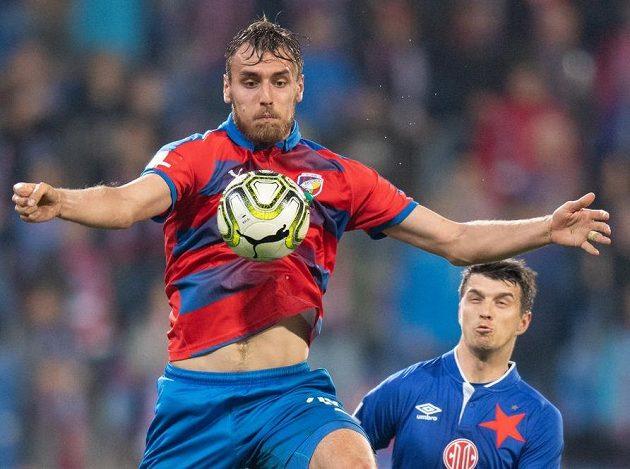 Tomáš Chorý z Viktorie Plzeň, autor prvního gólu proti Slavii.