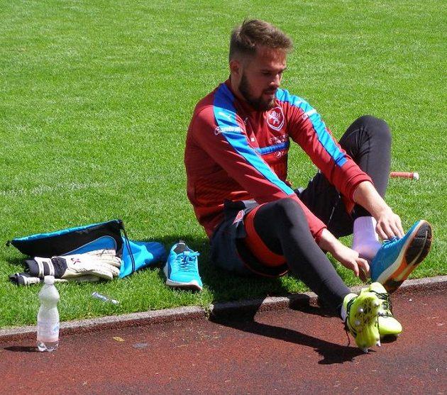 Patrik Macej, brankář české fotbalové reprezentace do 21 let na mistrovství Evropy v Polsku.