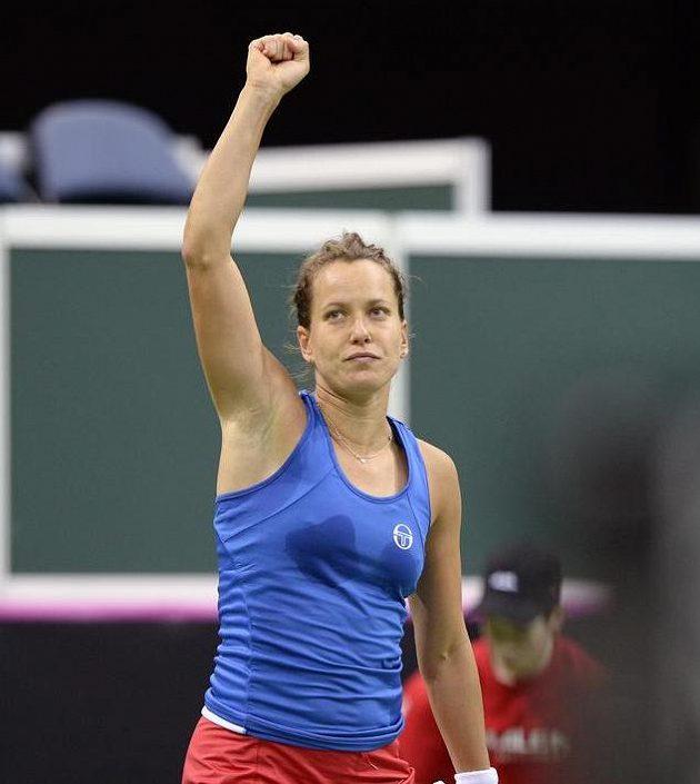 Česká hráčka Barbora Strýcová zvítězila v druhém zápase.