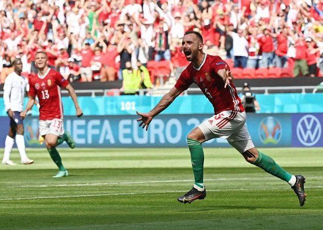 Maďar Attila Fiola právě otevřel skóre zápasu s Francií.
